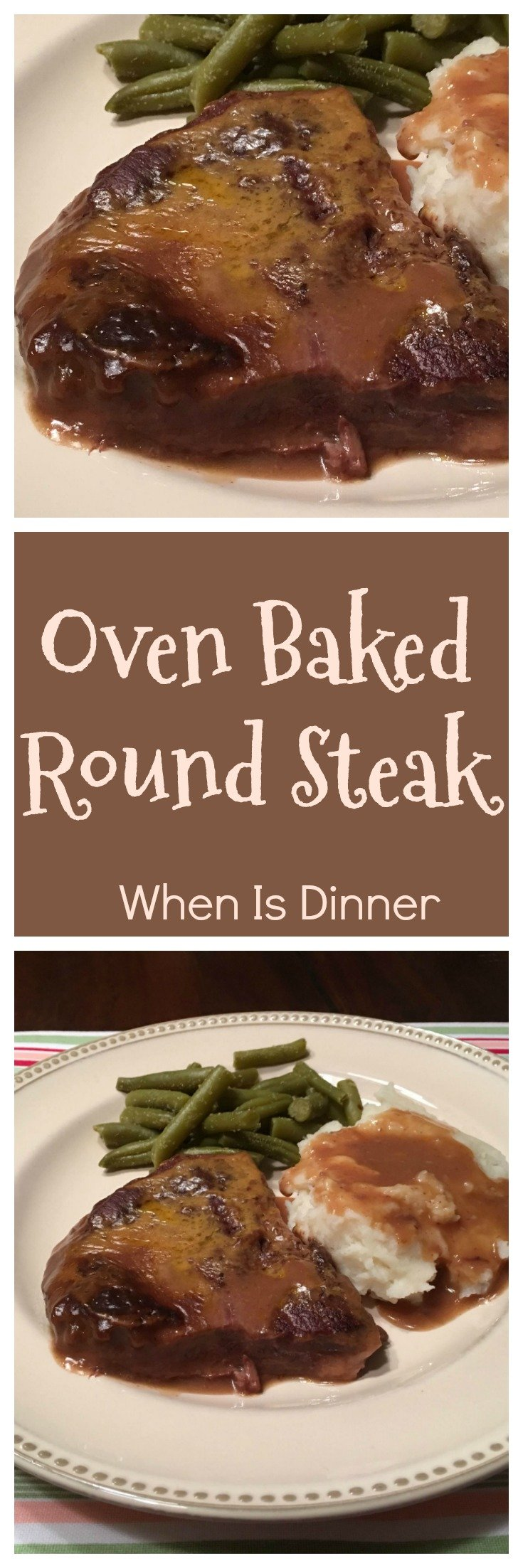 This Oven Baked Round Steak Recipe is delicious and easy to make, requiring just 5 ingredients!