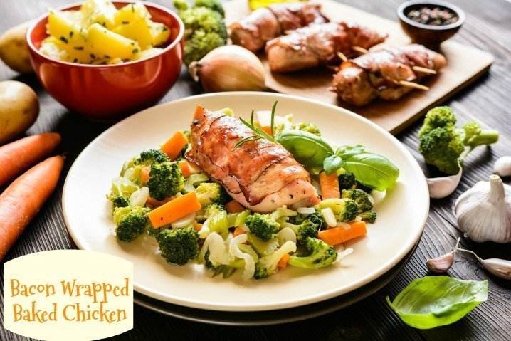 Bacon Wrapped Baked Chicken