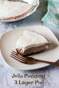 Jello Pudding 3 Layer Pie