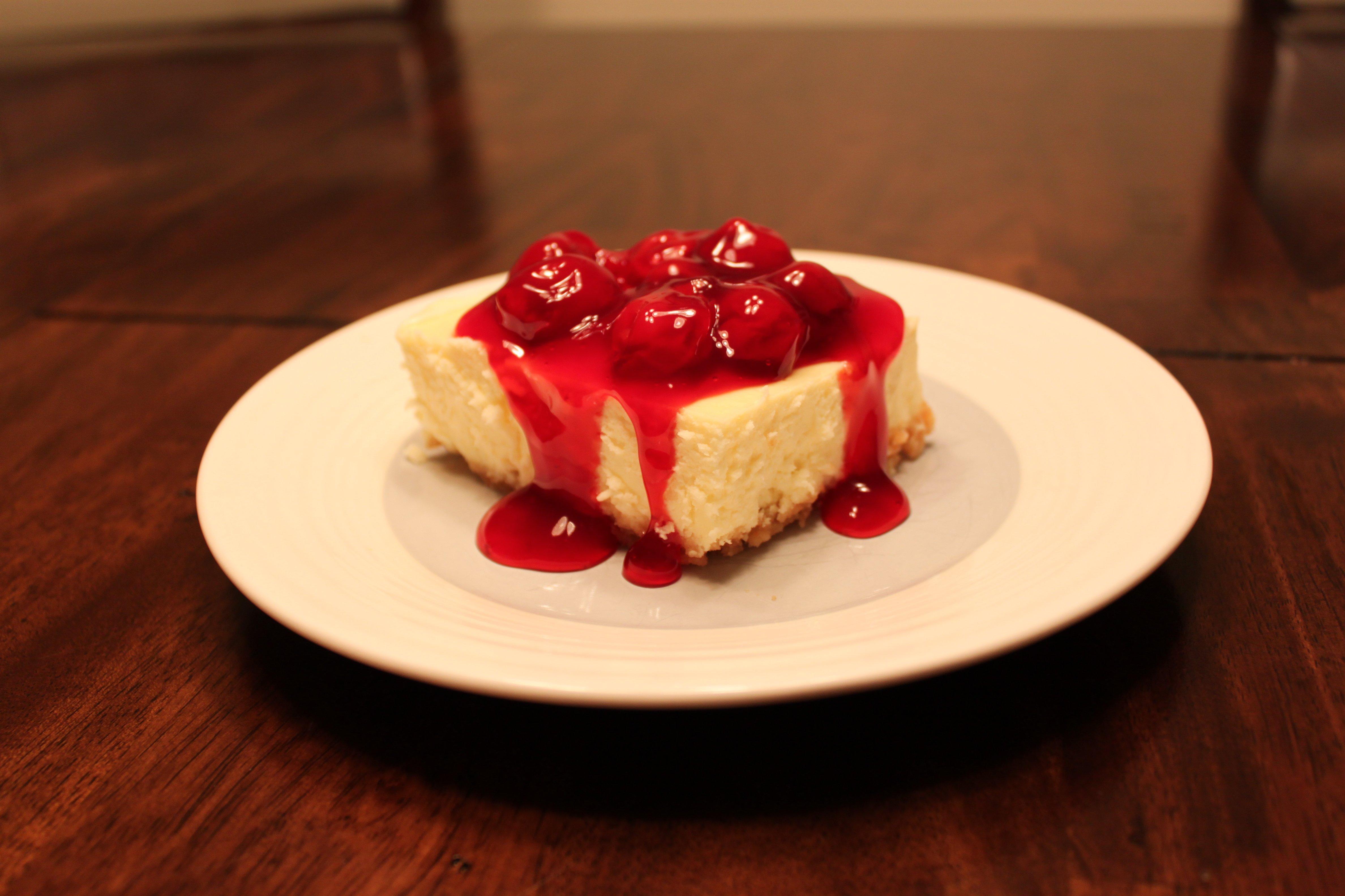 New York Style Cherry Cheesecake