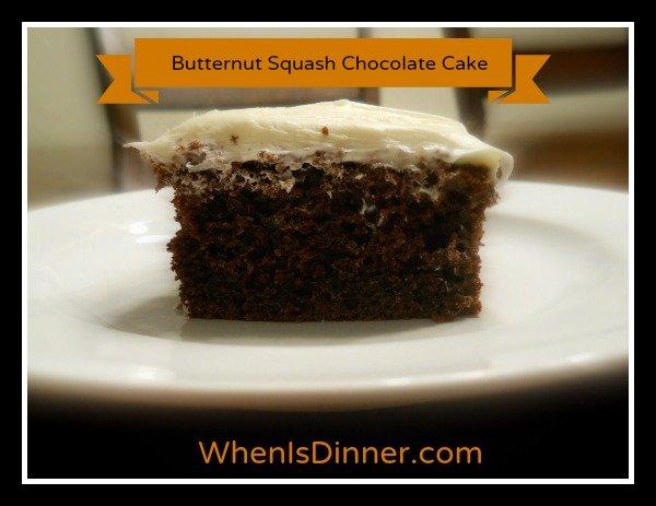 Butternut Squash Chocolate Cake