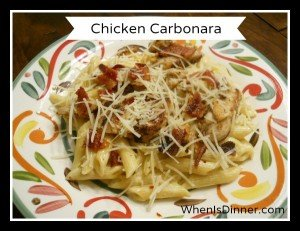 Chicken Carbonara @WhenIsDinner1