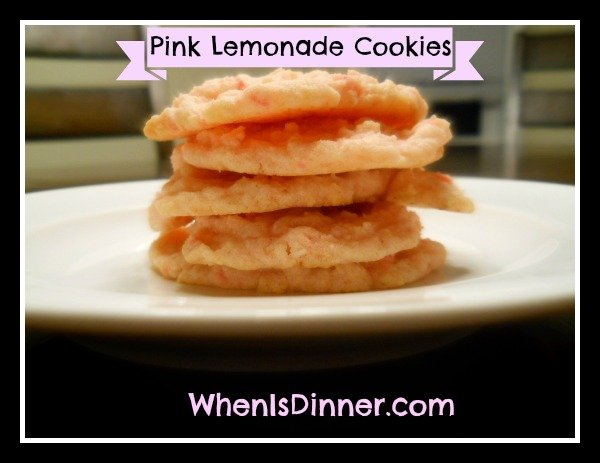 Homemade Pink Lemonade Cookies