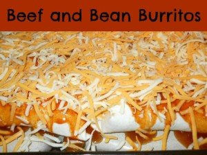 Homemade Beef & Bean Burritos