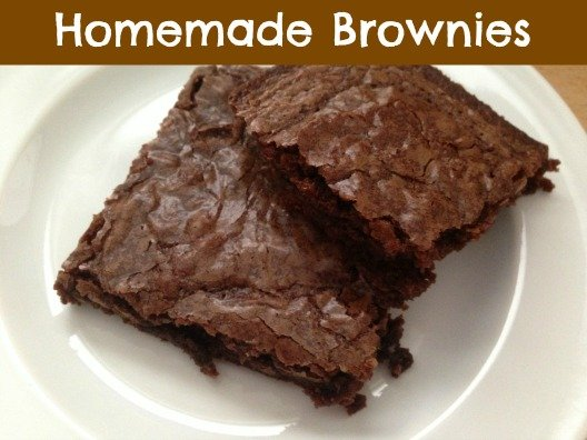 These Homemade Brownies are very easy to make, and would be a great ...