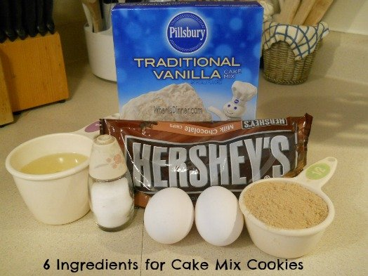 Cake Mix Cookie Ingredients