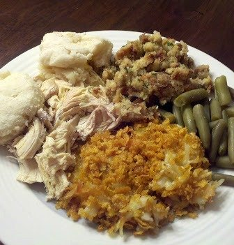 Hashbrown Casserole Thanksgiving Plate