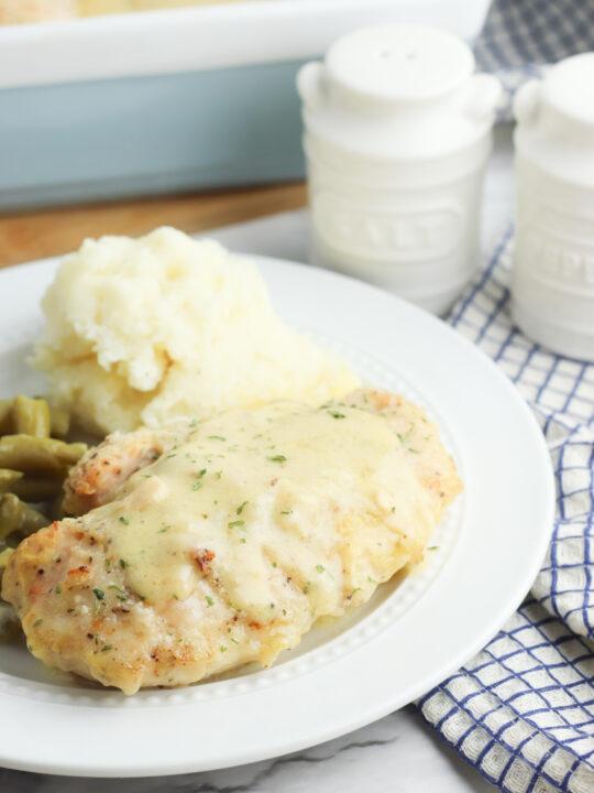 Oven Baked Buttermilk Chicken & Gravy