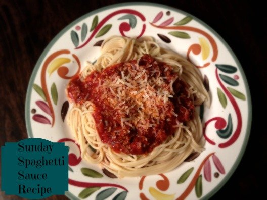 Sunday Spaghetti Sauce Recipe