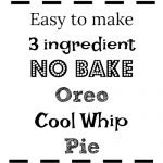 Oreo Cool Whip Pie