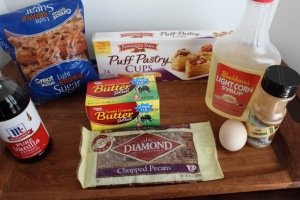 Pecan Pie Puff Ingredients