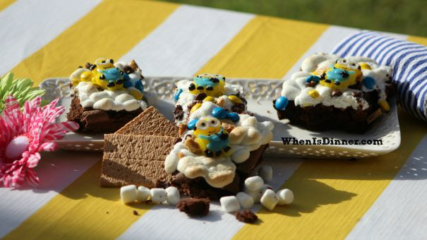Minion Smore Brownies 2