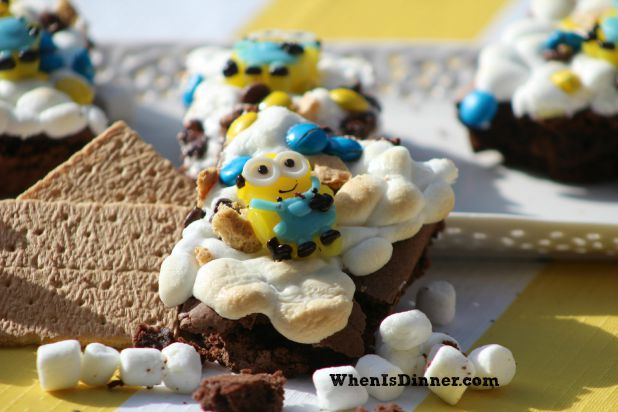 Minion Smores Brownie 3