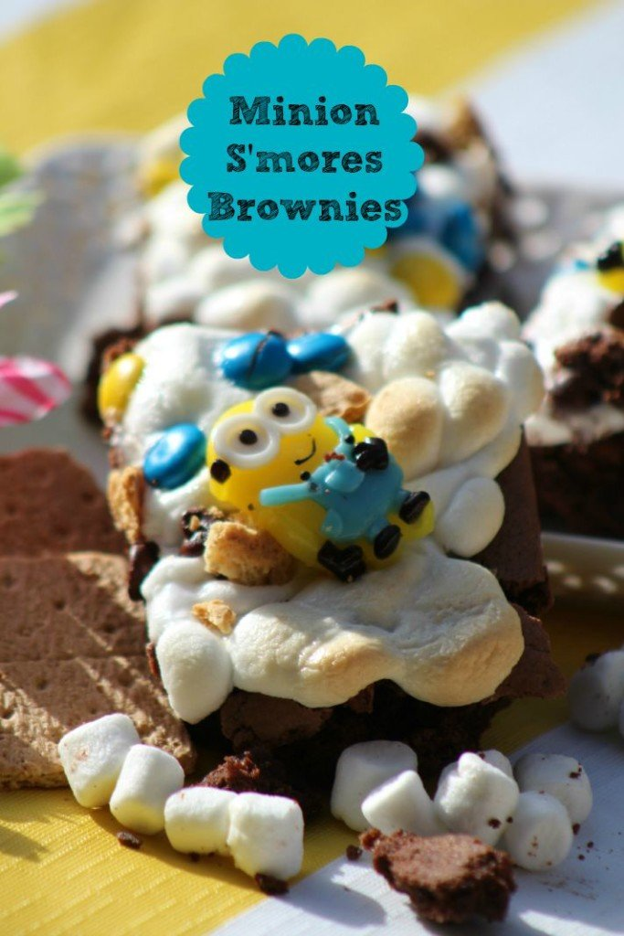 Minion Smores Brownies