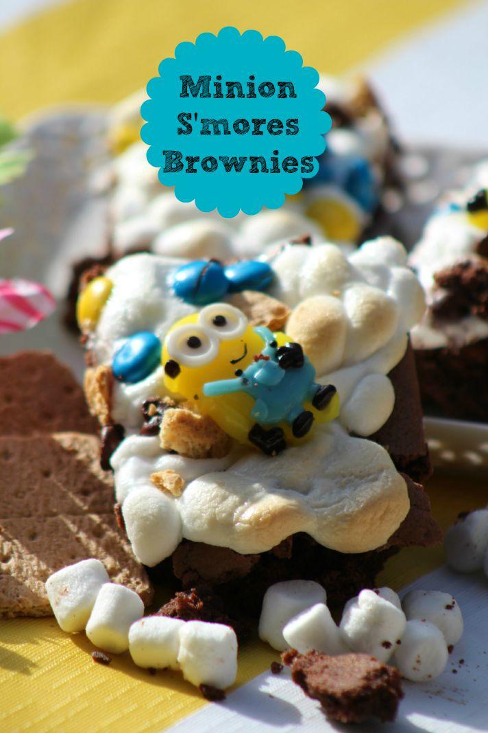 Minion Smores Brownies