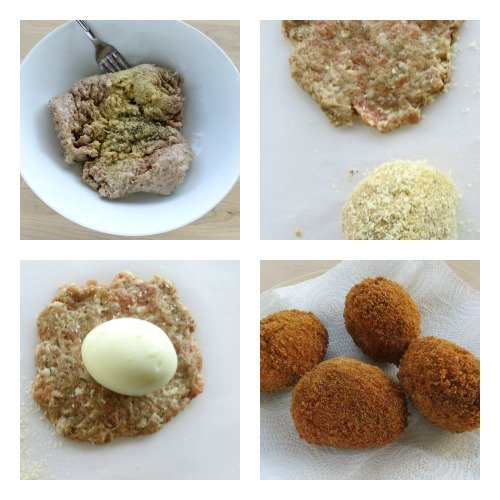 Scotch Eggs Process Pics