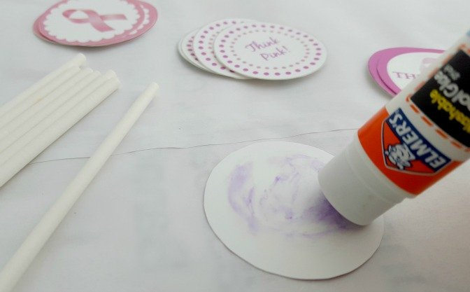 Think Pink Cupcake Toppers