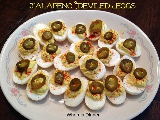 Jalapeno Deviled Eggs