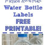 Melted Snowman Water Bottle Labels