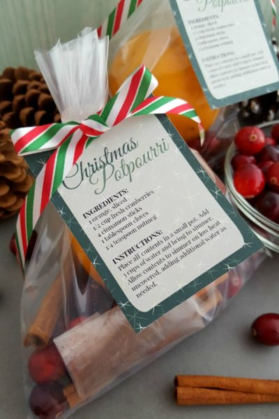 Christmas Potpourri Recipe with Printables