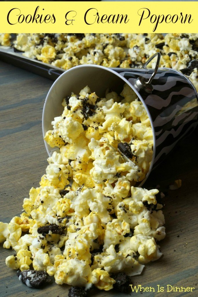 Cookies and Cream Popcorn - When is DinnerWhen is Dinner