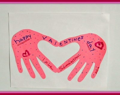 Folded Handprint Valentine's Card Kids Craft Project