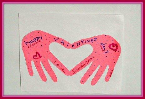 Folded Handprint Valentine's Card Kids Craft Project
