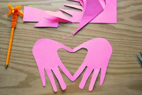 Folded Handprint Valentine's Card