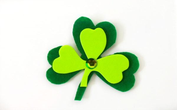 Shamrock Magnet Kids Craft Project