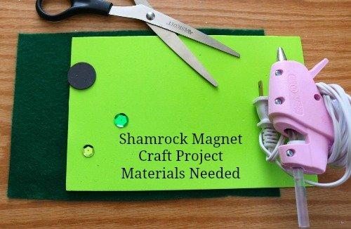 Shamrock Magnet Kids Craft Project