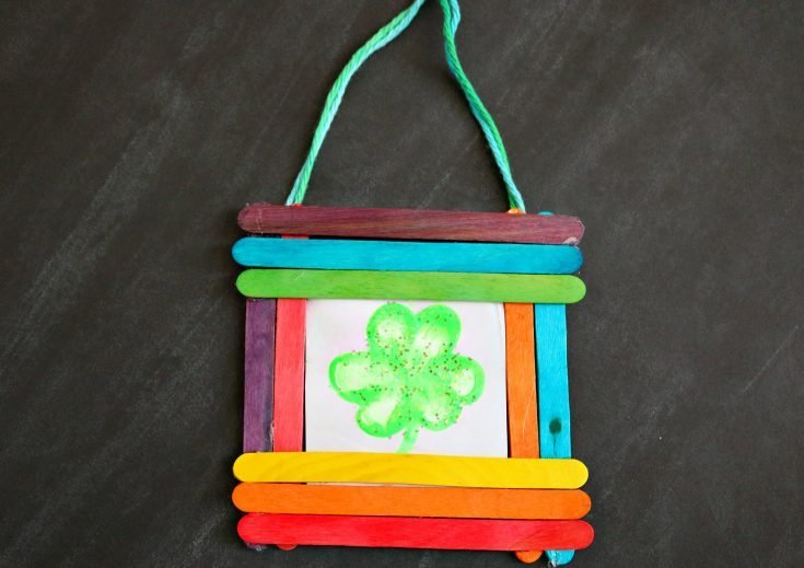 Thumbprint Shamrock Keepsake Frame