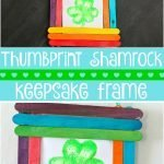 Thumbprint Shamrock Keepsake Frame