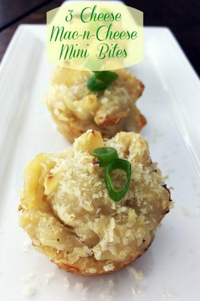 3 Cheese Mac-N-Cheese Mini Bites