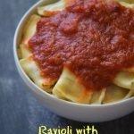 Ravioli with Homemade Tomato Sauce