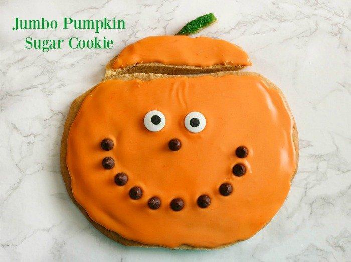 Jumbo Pumpkin Sugar Cookie