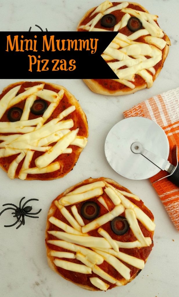 Halloween Mini Mummy Pizzas
