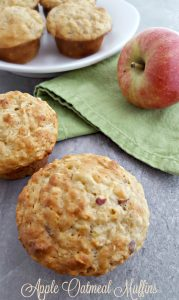 Healthy Apple Oatmeal Muffins