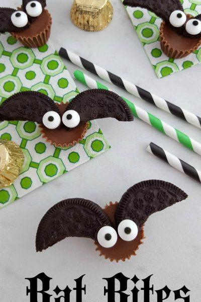 Chocolate Peanut Butter Bat Bites