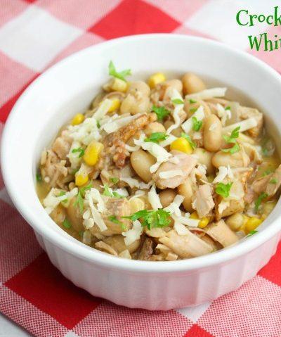 Crock Pot Turkey White Bean Chili {ZERO WW Points}