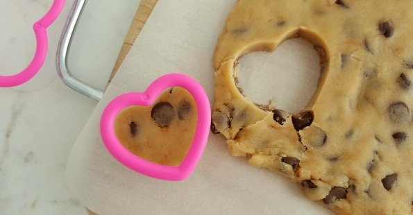 Chocolate Cookie Dough Hearts