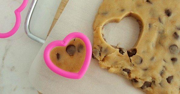 Chocolate Cookie Dough Hearts
