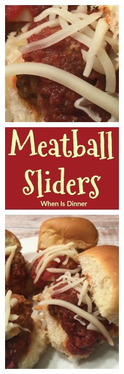 Meatball Sliders are a delicious, easy appetizer that's sure to please a crowd. Great for the Superbowl or any Big Game Day!