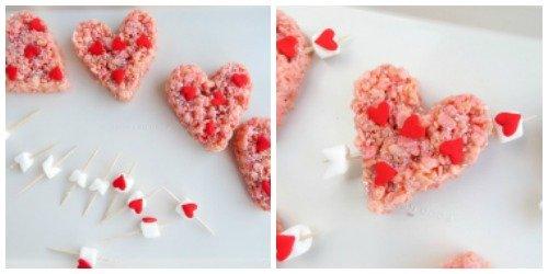 Valentine's Day Rice Krispie Treats