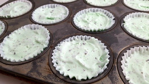 Mint Ice Cream Cookie Cups