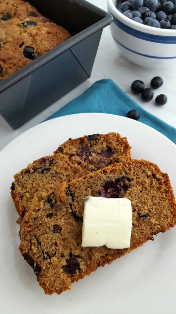 Blueberry Breakfast Bread Horizontal