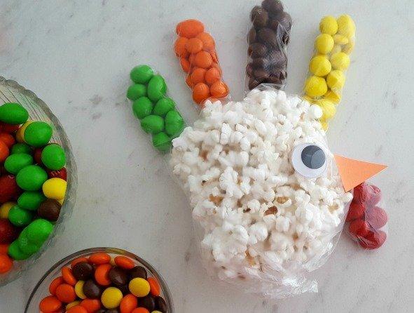 Turkey Popcorn Treat Bags