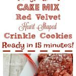 Cake Mix Red Velvet Heart Crinkle Cookies
