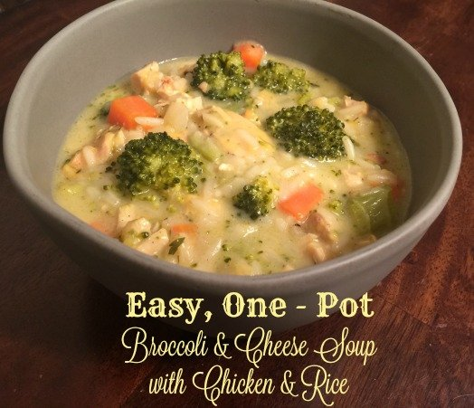 Easy One Pot Broccoli & Cheese Soup with Chicken & Rice - When is Dinner
