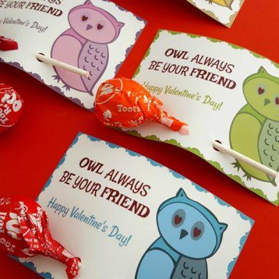 Owl Valentine Printable