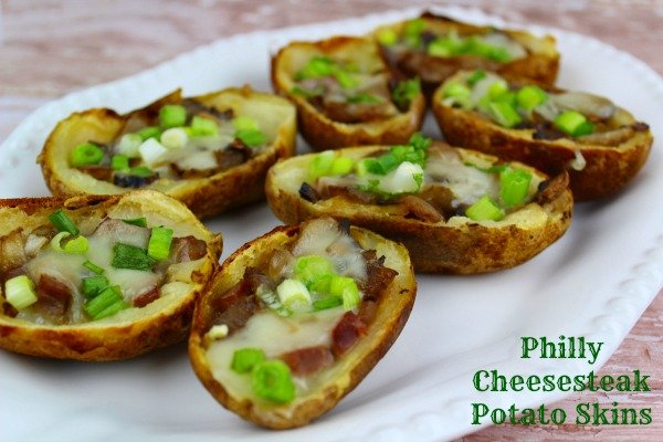 Philly Cheesesteak Potato Skins